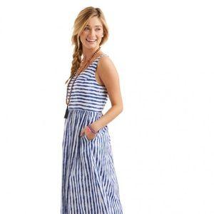 Vineyard Vines Painted Striped Maxi Dress 12
